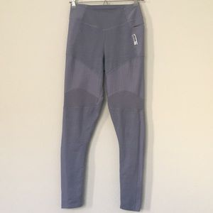 Gymshark True Texture Leggings Steel Blue Sz S